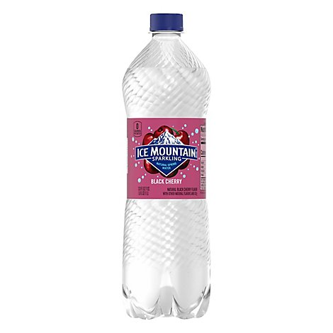 Ice Mountain 100% Natural Spring Water Sparkling Black Cherry - 33.8 Fl. Oz.