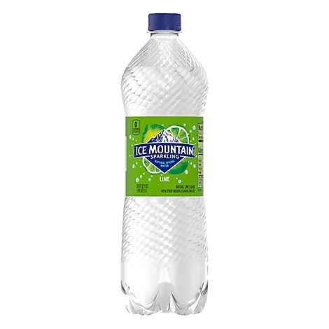 Ice Mountain 100% Natural Spring Water Sparkling Zesty Lime - 33.8 Fl. Oz.