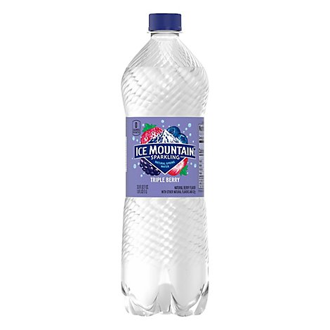 Ice Mountain 100% Natural Spring Water Sparkling Triple Berry - 33.8 Fl. Oz.