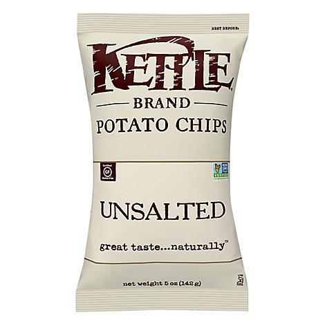 Kettle No Salt Potato Chips - 5 Oz