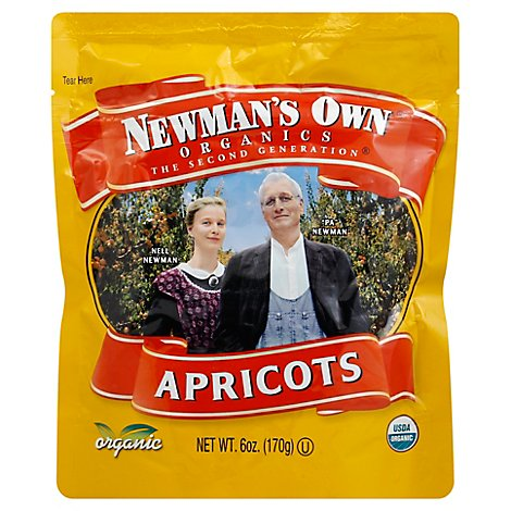 Newmans Own  Apricots Dried  Org - 6 Oz