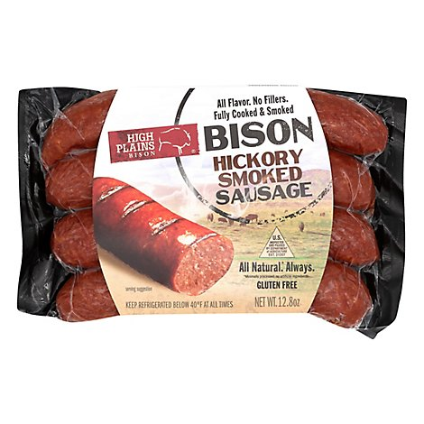 High Plains Bison Sausage Hickory Smoked All Natural - 12.8 Oz