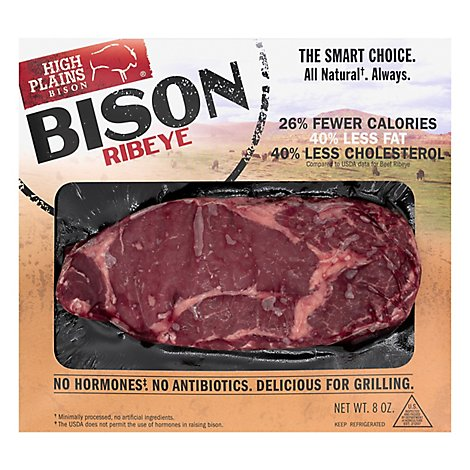 High Plains Bison Ribeye All Natural - 8 Oz