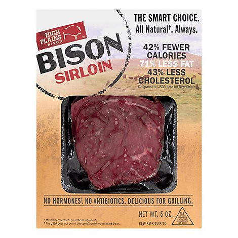 High Plains Bison Sirloin All Natural - 6 Oz