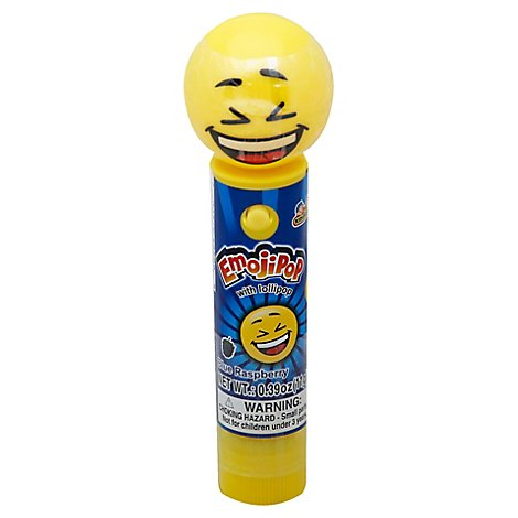 Kidsmania Emoji Pop Blue Raspberry Lollipop - 0.39 Oz