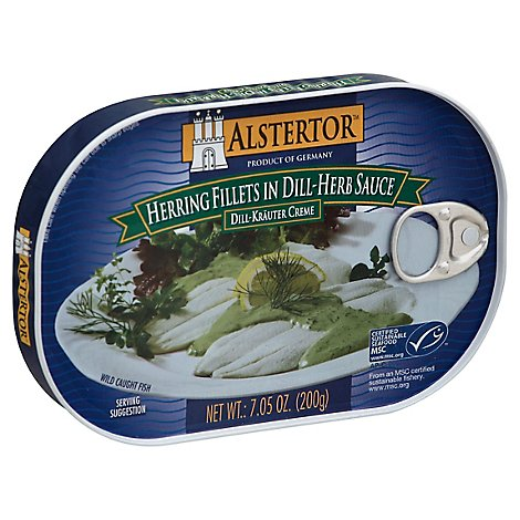 Alstertor Herring Fish Filet Dill Herb Sauce Canned - 7 Oz