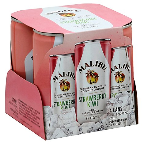 Malibu Strawberry Kiwi Cocktail Can - 4-200 Ml