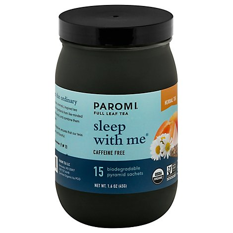Paromi Tea Sachets Herbal Caffeine Free Sleep With Me 15 Count - 1.6 Oz