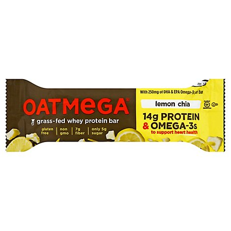 Oatmega Bar Lemon Chi - 1.8 Oz