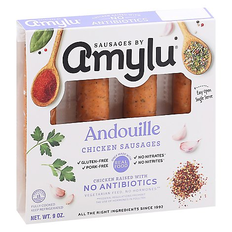 Sausages by Amylu Antibiotic Free Andouille Chicken Sausages - 9 Oz.