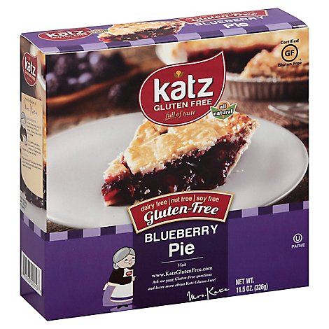Katz Gluten Free Pie Blueberry - 11.5 Oz