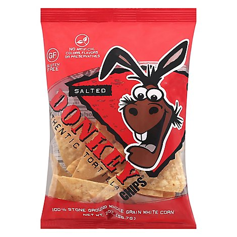 Donkey Salted Tortilla Chips - 2 Oz