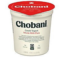Chobani Yogurt Greek Whole Milk Plain - 32 Oz