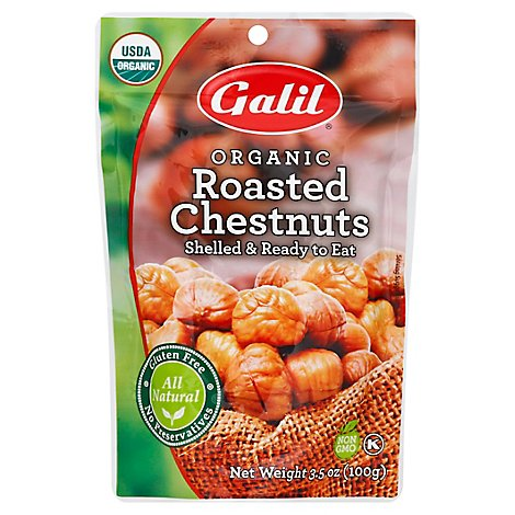 Galil Organic Roasted Chestnuts - 3.5 Oz