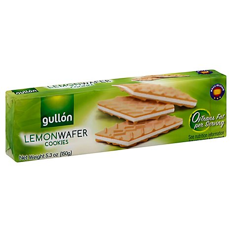 Gullon Lemon Wafers Cookies 5.29 Oz - 5.29 Oz