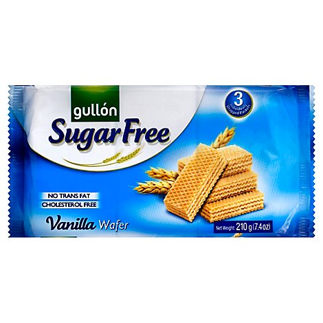 Gullon Sugar Free Vanilla Wafer Cookies 7.4 Oz - 7.4 Oz