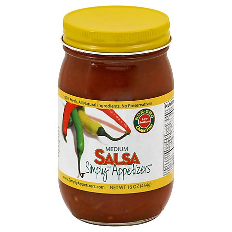 Simply Appetizers Medium Salsa - 16 Oz