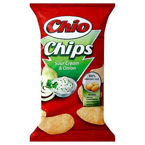 Chio Sour Cream & Onion Potato Chips - 6.17Oz