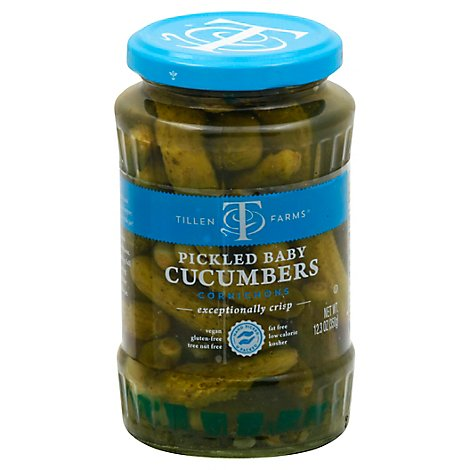 Tillen Farms Pickled Baby Cucumbers - 12 Oz