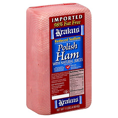 Krakus Lower Sodium Ham - 0.50 Lb.