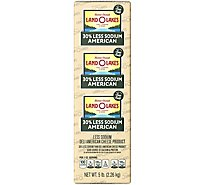 Land O Lakes 30% Less Sodium White American Cheese - 0.5 Lb