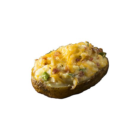 Twice Baked Potato With Bacon And Cheddar