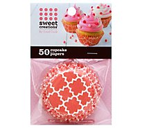 Sweet Creations Cupcake Paper Reg 50ct Pink Geometric - 50 Count