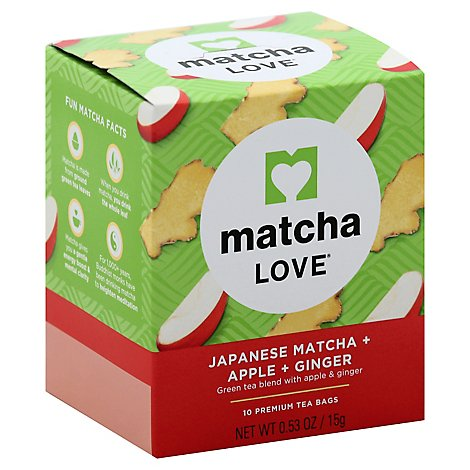 Matcha Love Green Tea Japanese Matcha + Apple + Ginger Box - 0.53 Oz