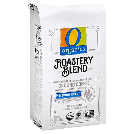 O Organics Coffee Roastery Blend Ground - 10 Oz