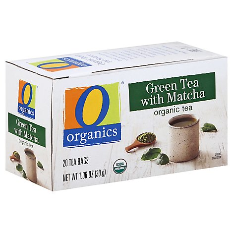 O Organics Tea Green W/Matcha - 20 Count