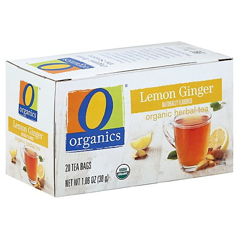 O Organics Tea Lemon Ginger - 20 Count
