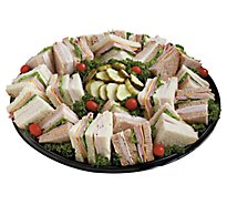 Deli Catering Tray Club Sandwiches With Salad