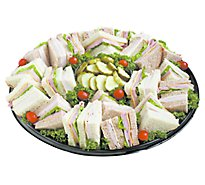 Deli Catering Tray Finger Sandwiches With Sliced Meats Large - Each