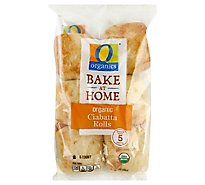 O Organics Rolls Ciabatta Bake At Home - 10 Oz