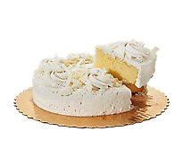 Bakery Cake Yellow Butter Cream Iced Decorated 1 Layer