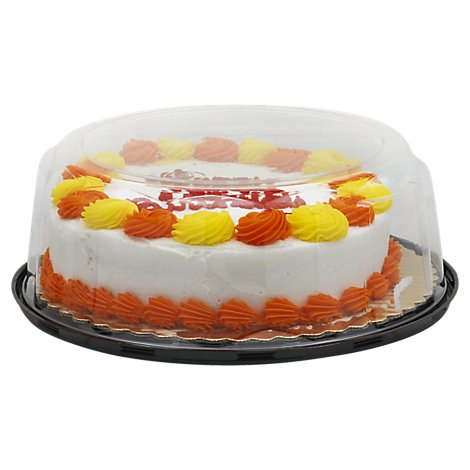 Bakery Cake Marble Decorated Butter Cream 8 Inch 1 Layer