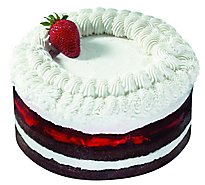 Bakery Cake Chocolate Whip Cream Strawberry Flavoured 3 Layer