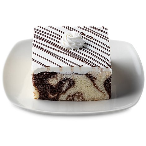 Bakery Cake Slice Marble 1 Count