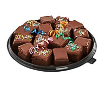 Bakery Tray Brownie Fudge Iced Without Nuts 16 Count