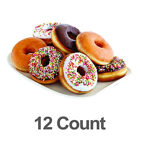 Fresh Baked Everyday Assorted Donuts - 12 Count