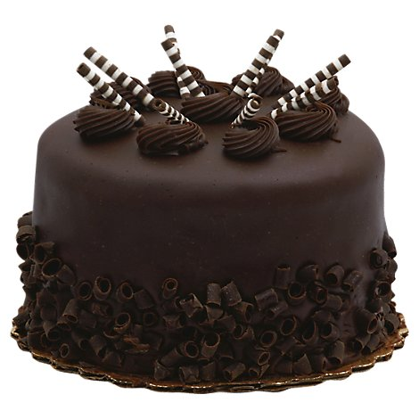 Bakery Cake Twister Enrobed 5 Inch 2 layer