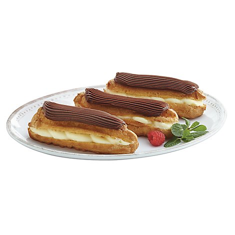 Fresh Baked Custard Filled Eclair - 3 Count