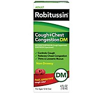 Robitussin Cough & Chest Congestion Dm - 4 Fl. Oz.