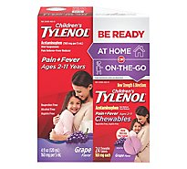 Tylenol Childs Grape Liquid W 24ct Chewables - 4 Fl. Oz.