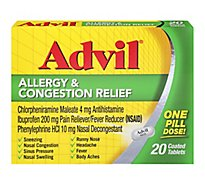 Advil Allergy & Congestion Relief Tabs - 20 Count