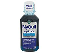 NyQuil Severe Plus With Vicks VapoCOOL Nighttime Cough Cold & Flu Relief Liquid - 12 Fl. Oz.