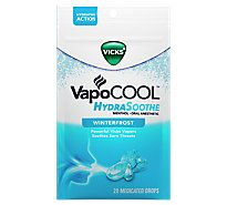 Vicks VapoCool HydraSoothe Medicated Drops Winterfrost - 20 Count
