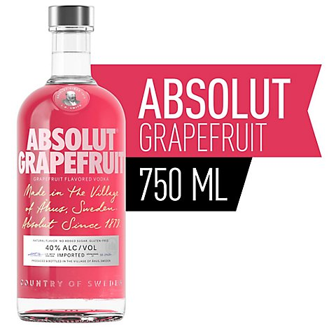Absolut Vodka Grapefruit 80 Proof - 750 Ml