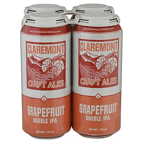 Claremont Craft Ales Grapefruit Dbl Ipa In Cans - 4-16 Fl. Oz.