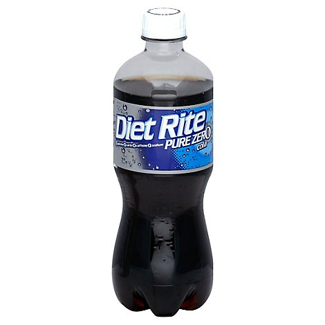 Diet Rite Pure Zero Soda Cola Bottle - 20 Fl. Oz.